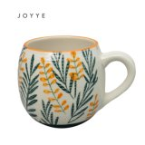 Best Home Customized Logo Leaf Ceramic Coffee Tea Cup