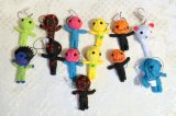 Source Factory Wholesale Cheap String Voodoo Dolls, Handmade Voodoo Doll Keyring Key Chain