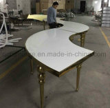 Stainless Steel Frame White MDF Top Wedding Table