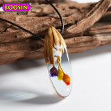 Handmade Wooden Resin Pendent Jewellery Necklace