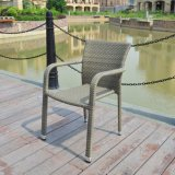 Aluminum Rattan Outdoor Pario Flat Wicker Home Hotel Office Restaurant Dining Chair (J3741G)