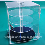 Clear Acrylic Jewelry Display Case with Rotating Shelves