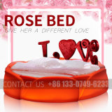 Direct Deal Colorful Rose Bed Sex Bed for Hotel Use and Private