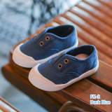Wholesale Best Sell Candy Color Canvas Baby Shoes Children Girls and Boys Slip-on Shoes