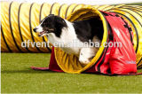 "24"" 600mm Yellow Large Diameter Flexible Duct Tunnel for Dog Agility"