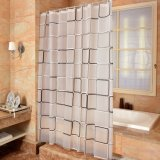 Fashionable Checks Anti-Mildew Waterproof PEVA Bathroom Shower Curtain (04S0030)