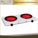 Ce RoHS Approval Double Burner Infrared Cooker Es-3203c Ceramic Stove