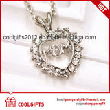 New Design Heart Shape Alloy Necklace for Mother's Day Jewelry Gift