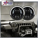 "Cheapest Price DOT SAE Half Side Halo Ring LED Headlight 7"" Headlight with DRL Angel Eyes 50W 4800lm for Jeep Wrangler Tj/Cj/Jk/Fj"