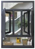Aluminium Glass Curved Casement Window with Brand Hardware