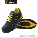Suede Leather Safety Shoe with EVA & Rubber Outsole (SN1620)