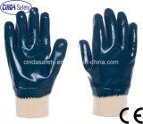 Full Blue Heavy Duty Nitrile Coating Industrial Working Gloves