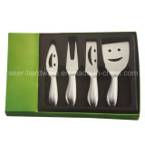 4PCS Stainless Hollow Handle Cheese Set Tool with Knife (SE-2011)
