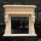 Exquisite Marble Fireplace with Fine Hand-Carved Design and Excellent Quality