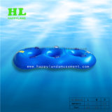 3 Men Yellow PVC Inflatable Water Tube for Waterpark