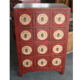 Chinese Painting Wooden Medicine Cabinet Lwb596