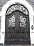 Safety Wrought Iron Main Door Designs Price