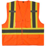 Orange Vest Reflective Safety Vest with Velcro ANSI Workwear