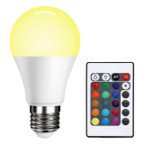 Cheap Price China E27 RGB LED Lamp with Remote Control LED Bulb Lights