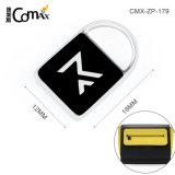 Black Enamel Embossed Logo Personalized Custom Zipper Pulls with Name, Hot Sale Metal Zipper Puller for Bags