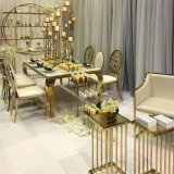 Best Price Industrial Iron Rose Gold Metal Brushed Stainless Steel Vintage Dining Chair for Private Party Bistro Iron Chair