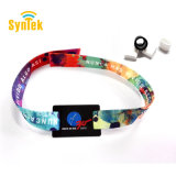 Custom NFC Ribbon Wristband Braided Fabric and RFID Tag Bracelet Wristband