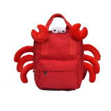 Junyuan Wholesale Kids Cartoon Animal Canvas Crab Bag, School Backpack Bag for Children