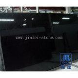 Polished Absolute Black Granite Slabs Shanxi Black Granite Slabs for Floorings and Walls or Kitchen Countertop and Vanity Tops or Tombstone or Headstone etc.
