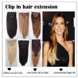 Luxury Double Drawn Full Head Cheap 100% Human Hair Clip in Hair Extensions