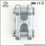 Forged Alloy Steel Electro Galvanized Double Clevis Link