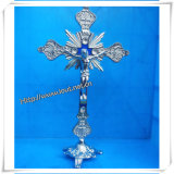 Wholesale Metal Old Silver Coloured Metal Crucifix / Newest Crucifix (IO-ca003)