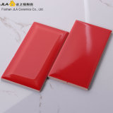 3X6inch/7.5X15cm Gules Glossy Glazed Bathroom Ceramic Tile Ceramic Artificial Stone