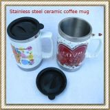 Stainless Steel Ceramic Coffee Mug (CL1C-M06C)