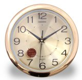 New Design High Quality Gold Plating Round Wall Clocks
