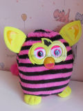 Furby Boom Figure Stuffed Animal Doll Plush Toy (Straight Stripes)