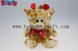 Wholesale Price Plush Giraffe Cuddly Stuffed Toy with Lips Ribbon