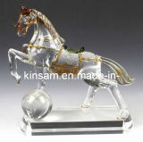 Colorful Glass Crystal Horse Figurines for Home Decoration
