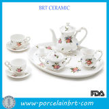 Floral White Porcelain Grace Tea Ware