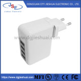 Premium EU Plug 4 Ports USB Travel Charger for Mobile Phone