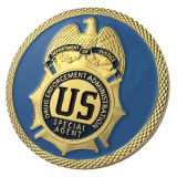 Wholesale Zinc Alloy United States Amercian Department of Energy Gold Plated Challenge Coin/ Medal (YB-c-013)