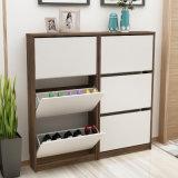 Shoe Display Cabinet, Wood Modern Shoe Rack for Living Room
