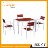 Cheap Cafe Bistro Table and Chair Leisure Modern Hotel Restaurant Dining Table Sets Outdoor Garden Aluminum Furniture