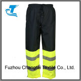 Men′s Safety Yellow Black Reflective Cargo Pants