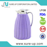 Personalized Design Beautiful Color Handmade Rattan Wrapping Thermos Flask Coffee Pot (JGIG)