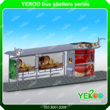 Hot Sale Bus Shelter-Outdoor Advertising Bus Shelte-Unique Design Bus Shelte