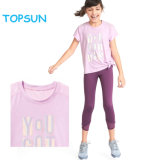 Best Price Children Bamboo Cotton Soft T Shirt Girls Pure Color Short Sleeve Printed Clothes