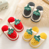 Cute Winter Strawberry Slippers Warm Plush Child Adult Slippers