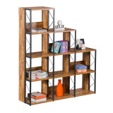 New Cube Step Storage Bookshelf for Home Office in Wooden Material