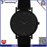 Yxl-372 New Arrival Men Watch Leather Stainless Steel Case Dw Style Wrist Watch Black Face Vogue Ladies Watch Factory