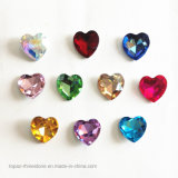 Point Back Rhinestone Jewelry Making Crystal Chaton Swaro Crystal Bead (TB-heart 27mm)